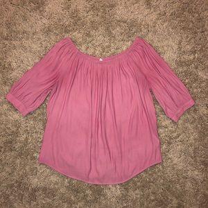 Gap Off-The-Shoulder Pink Blouse